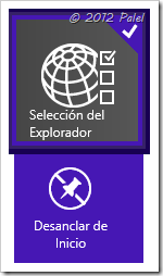 Selección del explorador