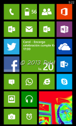 Mi pantalla de Windows Phone