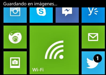 Captura de pantalla en Windows Phone