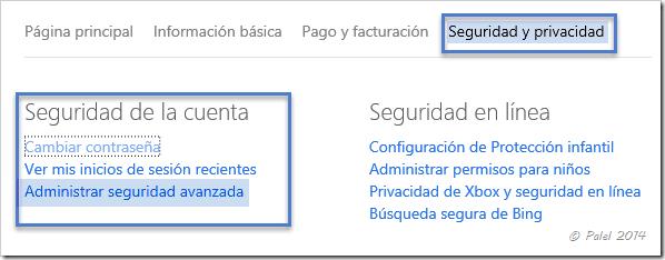 Cuentas Microsoft - Administración y Seguridad - palel.es